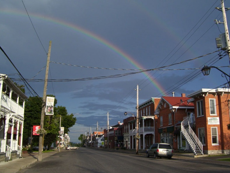 rainbows over downtown Vankleek Hill